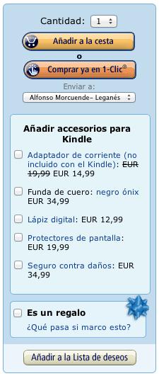 Botón compra inmediata en Amazon
